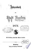 Adressbuch Stadt Bamberg
