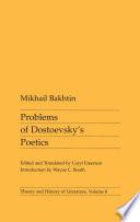 Problems of Dostoevsky s Poetics
