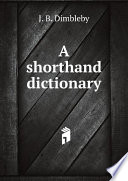 a-shorthand-dictionary
