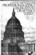 Professionalizing Legislative Drafting