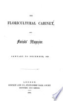 The Floricultural Cabinet and Florists  Magazine