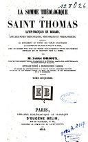 Book La somme théologique de Saint Thomas