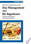 Das Management 1x1 f  r Ingenieure