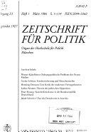 Zeitschrift f  r Politik