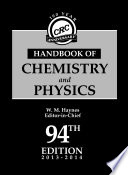 CRC Handbook of Chemistry and Physics  94th Edition