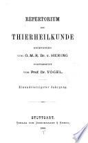 Repertorium der Thierheilkunde