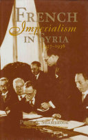French Imperialism in Syria  1927 1936