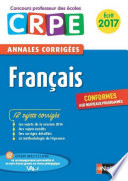 Ebook - Annales CRPE 2017 : Français