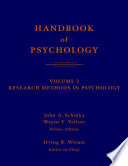 Handbook of Psychology  Research Methods in Psychology