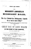 Book The Mighty Angel's Midnight Roar; Or, the Cry