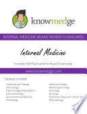 Knowmedge Internal Medicine Flashcards