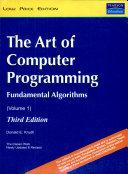 The Art Of Computer Programming  Volume 1  3 E