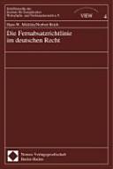 Die Fernabsatzrichtlinie im deutschen Recht