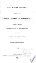 A Catalogue of the Books Belonging to the Library Company of Philadelphia