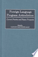 Foreign Language Program Articulation
