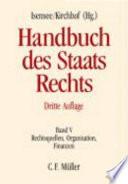 Handbuch des Staatsrechts der Bundesrepublik Deutschland