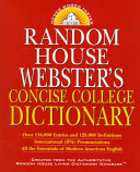 Random House Webster S Concise College Dictionary