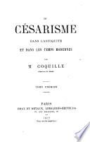 Du C Sarisme Dans L Antiquit Et Dans Les Temps Modernes