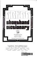 Gregg Shorthand Dictionary