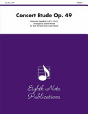 Concert Etude  Op  49  Solo Trumpet and Concert Band  Conductor Score   Parts