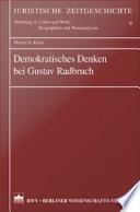 Demokratisches Denken bei Gustav Radbruch
