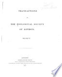 Transactions of the Zoological Society of London