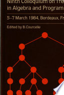 Ninth Colloquium on Trees in Algebra and Programming