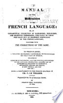 A manual of the difficulties of the French language