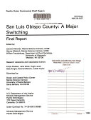 San Luis Obispo County  a Major Switching