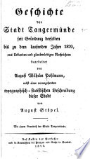 Geschichte der Stadt Tangermünde seit Gründung derselben bis zu dem laufenden Jahre 1829