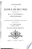Veilingcatalogus  boeken van J  C  Kindermann      et al    11 tot 16 februari 1878