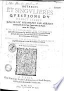 Notables et singulieres questions du droict escrit     par Me Gerauld de Maynard