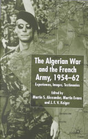 The Algerian War and the French Army  1954 62