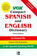 Vox Compact Spanish and English Dictionary  3E  Vinyl
