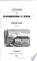 Catalog der Stadtbibliothek in Zürich