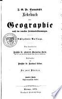 Lehrbuch der Geographie nach den neuesten Friedensbestimmungen