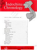 Indochina Chronology