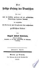 Anthologie christlicher gesange aus allen jahrhunderten der kirch