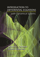 Introduction to Differential Equations with Dynamical Systems