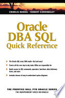 Oracle DBA SQL Quick Reference