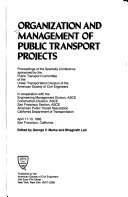 Organization and management of public transport projects