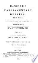 hansard s parliamentary debates william iv volume lxv