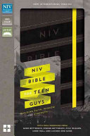 NIV Bible for Teen Guys  Imitation Leather  Charcoal  Elastic Closure