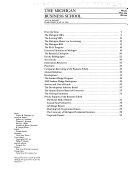 The Michigan Business School     Annual Report