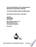 Environmental Effects of U.S. Department of Agriculture Conservation Programs