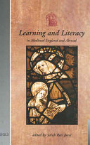 Learning and Literacy in Medieval England and Abroad