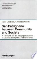 San Patrignano Between Community and Society