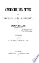 Geschichte der Physik von Aristoteles bis auf die neueste Zeit