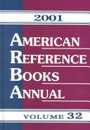 American Reference Books Annual 2001