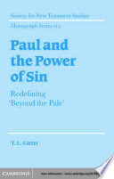 Paul and the Power of Sin Book PDF